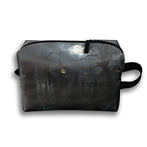 Scary Halloween Scarecrow Cosmetic Case Portable Artist Storage Bag Toiletry Jewelry Bags]()