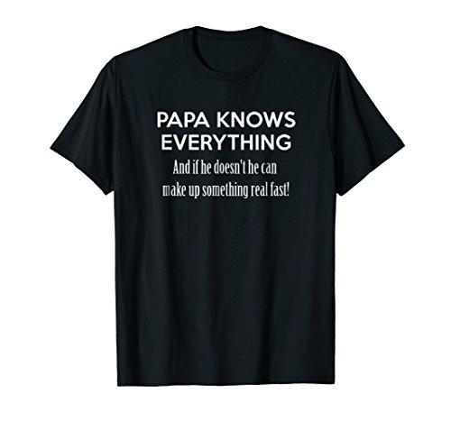 Mens Papa knows everything cool tshirt