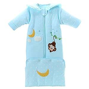 Saco de dormir para bebé, modelos de otoño e invierno, mangas desmontables gruesas,