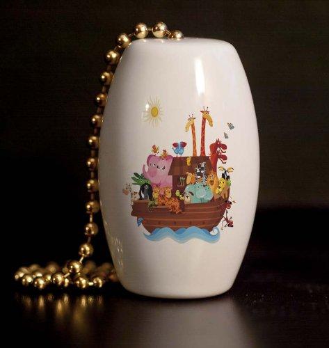 Noah's Ark Porcelain Fan / Light Pull - Noahs Ark Knob