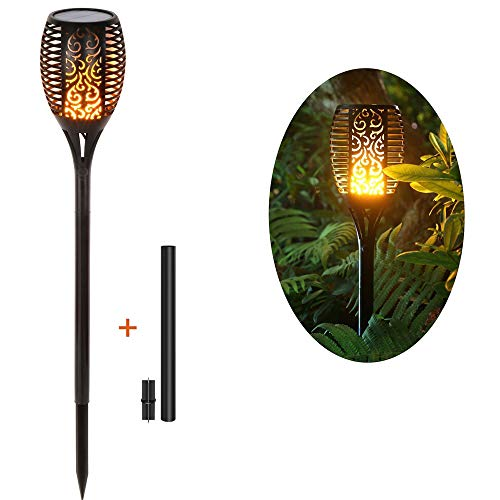 Rayodesol Solar Flame Torch Lights Pack of 1 Piece Lamp with Dancing Flame Torches