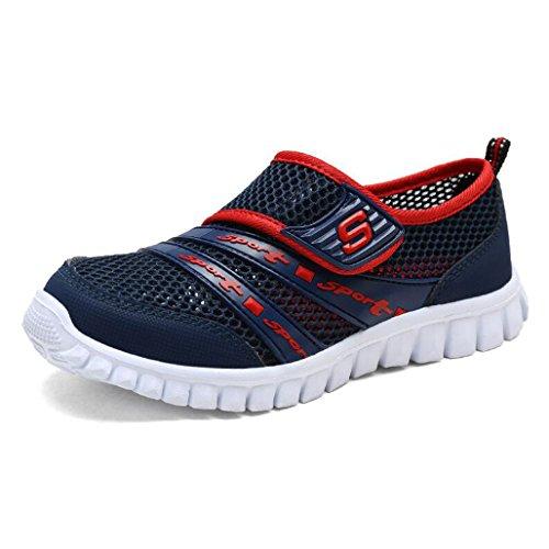 Eagsouni Unisex-Niños Malla Transpirable Velcro/Zapatos del Ocio/Peso Ligero Transpirables Zapatillas Azul1