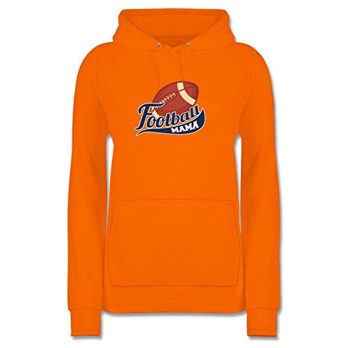 Damen - Mama Shirtracer Orange Muttertag Hoodie Football