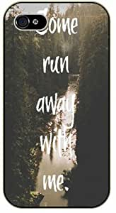 Come run away with me - River in middle of the forest - Adventurer iPhone 5C plastic case BLACK - (Row 11-C)