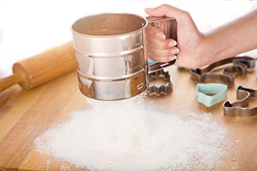 KADAX - Tamiz de Acero Inoxidable, para harina y azúcar en Polvo ...