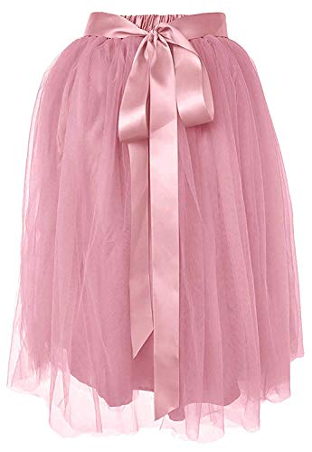 Dancina Girls Knee Length Tutu A line Layered Tulle Skirt 2-7 Years Dirty Pink