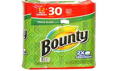 Bounty 12 Huge Paper Towels = 30 regular rolls