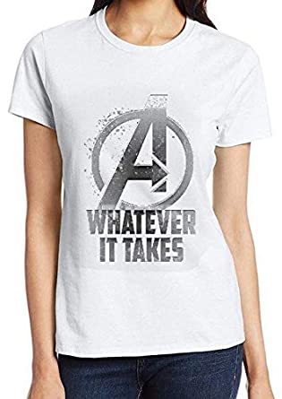 e4ec1b9fd Bhains Ki Ankh Women s Polyester Cotton Graphic Avengers Printed Half  Sleeve Round Neck T-Shirt  Amazon.in  Clothing   Accessories