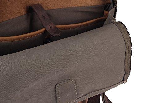 Harolds Twister Aktentasche mit Rucksackfunktion Leder 34 cm Laptopfach OgtRrXE