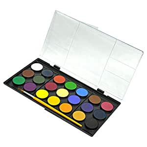 Adel Water Color 30 mm, Pack of 21 Colors with Brush - ALWC-931100