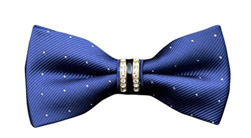 Ties Dot Bow Polka Blue MENDENG Tie Dress Bowtie Tuxedo Men's Striped Party Shining nzxUBx