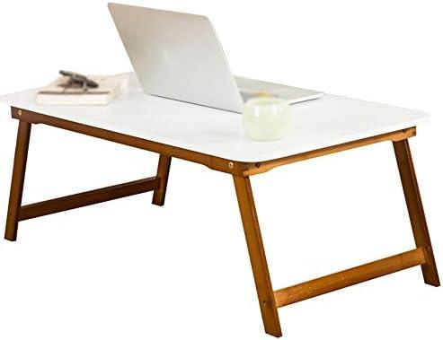 Banco de trabajo Mesa plegable, bandeja for portátil, mesa de cama plegable, bandeja de mesa ajustable, mesa de café, TV, bandeja de servicio de desayuno de bambú, juego de mesa plegable, disponible