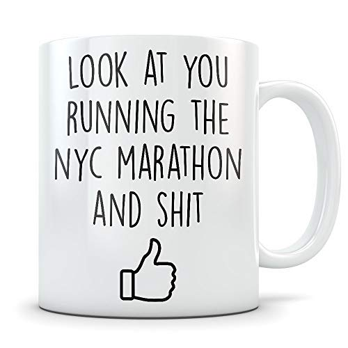 Nyc Marathon Gifts For Women And Men New York City Marathon Mug Nyc Marathon Runner Gifts Marathoner ()