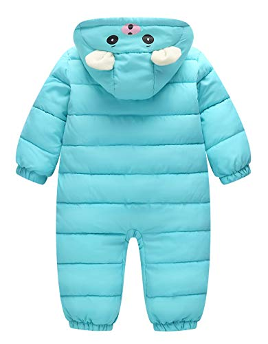 5bff99297 Happy Cherry Infant Pajamas Onesies Hooded Snowsuit Jumpsuit Outerwear  Romper