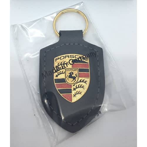 Porte-clés motif blason Porsche – Gris free shipping - globusbazar.be 7aeb7931326