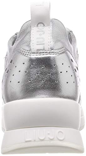 Liu Jo Donna 00532 Argento Basse Ginnastica Slv Karlie sneaker silver Scarpe 14 Jeans Met Leath Da T4arRnT