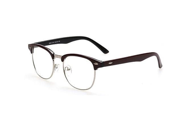 yoosun gafas para hombre Fashion mitad marco Horn con borde transparente lente gafas de lectura 80566: Amazon.es: Ropa y accesorios