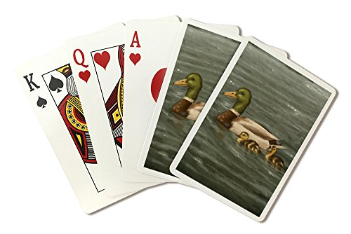 Mallard Ducks - Oil Painting (Playing Card Deck - 52 Card Poker Size with Jokers)