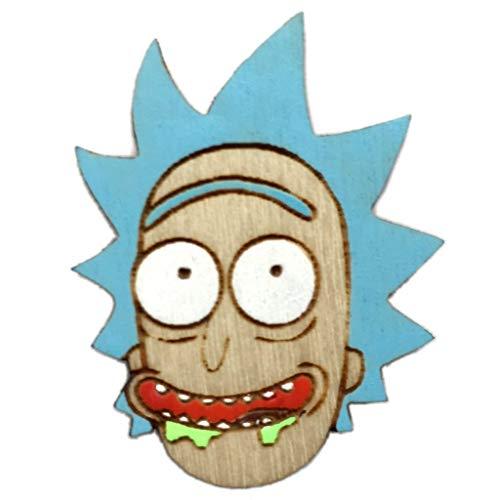 Rick Head Lapel Pin | Wood Festival Hat Pin ()