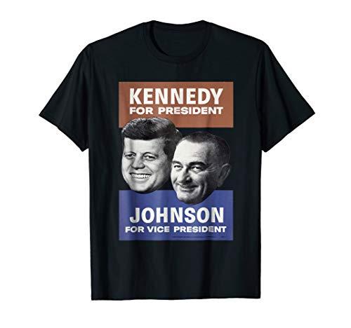 Mens Vintage Kennedy Johnson 1960 Presidential Campaign T Shirt (Major Johnson T-shirt)