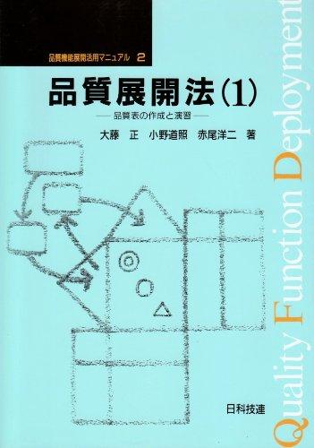 品質展開法(1) 品質機能展開活用マニュアル第 2巻