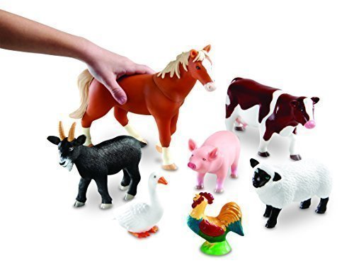 Learning Resources Jumbo Farm Animals CustomerPackageType: Standard Packaging Model: LER0694, Toys & Games for Kids & Child