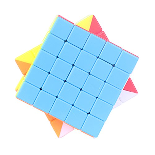 Type Cube Puzzle (5 x 5 Magic Cube, Stickerless Speed Puzzle Cube 6-Color Magic Square for Kids)
