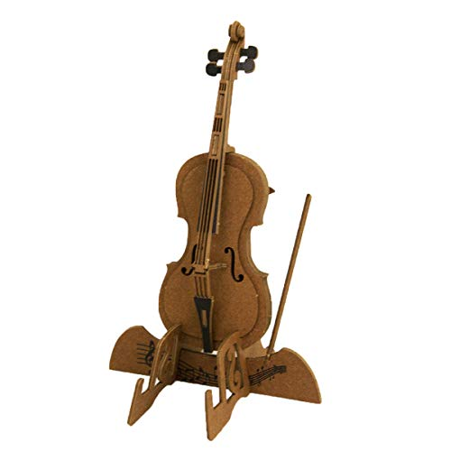 JIGZLE Cello 3D Paper Puzzle DIY Kit - Laser Cut Miniature Musical ()