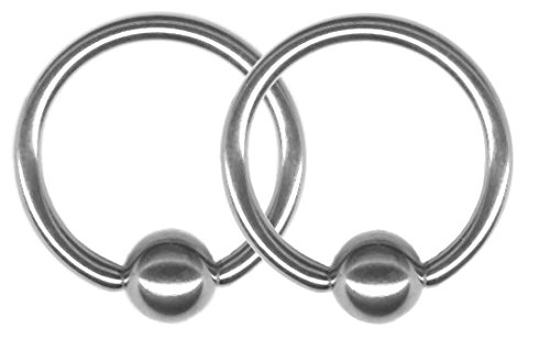 A Pair Of 20 Gaugecaptive Rings Two Steel Captive Bead Rings 20g