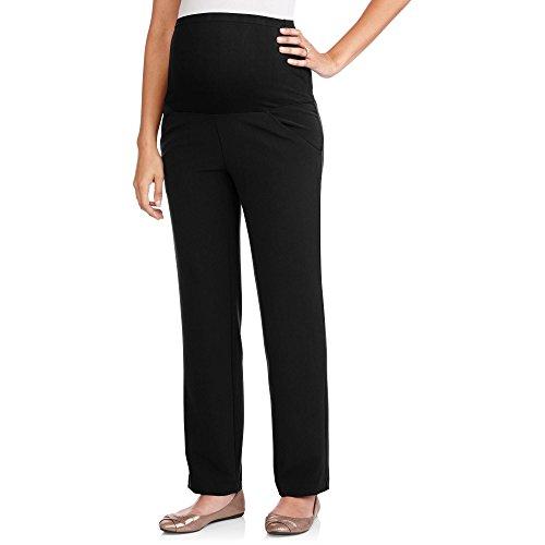 Times Two Maternity Women's Straight Leg Dress Pants (Large, Black)…