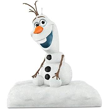 "Hallmark Keepsake Disney Frozen ""Disney Frozen Christmas Ornament Olaf Peekbuster Ornament"" Holiday Ornament"
