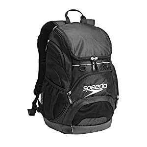 Speedo Large Teamster Backpack, Black/Black, 35-Liter