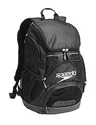 Speedo Large Teamster Backpack, Black/Black, 35-Liter