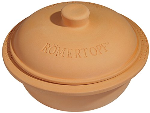 Romertopf by Reston Lloyd Natural Glazed Clay Cooker, Round Casserole, ()