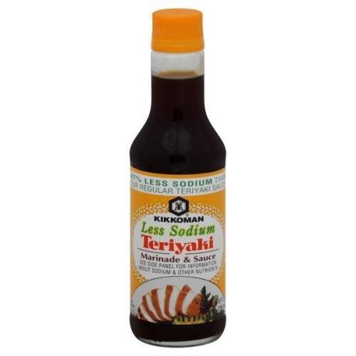 Kikkoman Less Sodium Teriyaki Marinade & Sauce 10 oz (Pack of 12) -