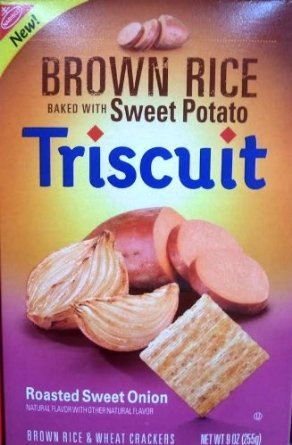 Nabisco, Brown Rice Triscuit, Sweet Potato with Roasted Onion, 9 Ounce Box (Pack of 4) (Nabisco Rice Crackers compare prices)
