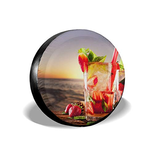 Spare Tire Cover, Strawberry Juice Printing Wheel Protectors