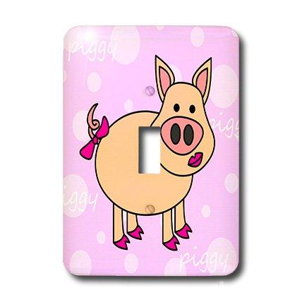 3d Rose 3dRose LLC lsp_6294_1 Pink Piggy Design - Happy G...