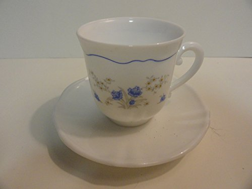 Flat Cup & Saucer Set in Romantique by Arcopal
