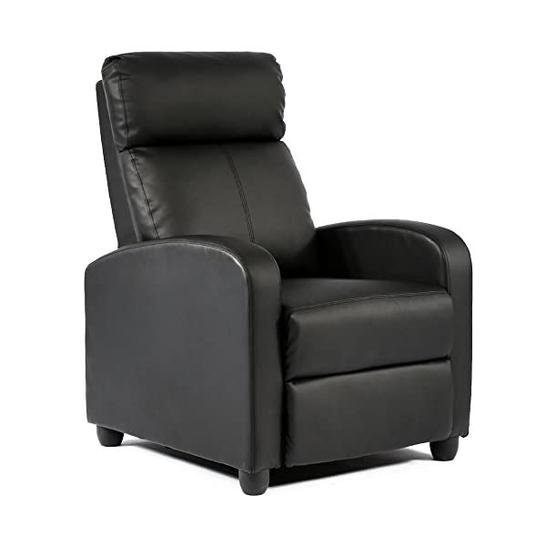 Wingback Recliner Chair Leather Single Modern Sofa Home Theater Seating for Living...