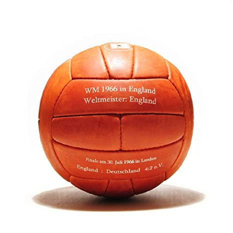 Balón mundial de fútbol 1966, de piel, diseño retro, con texto ...