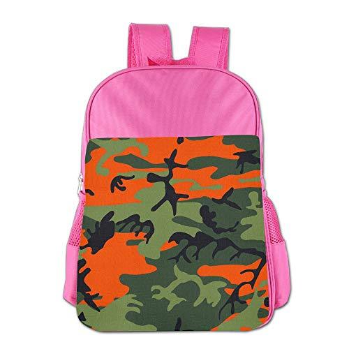 Orange Camouflage Memorial Day Adjustable Girl's Boy's Teen's