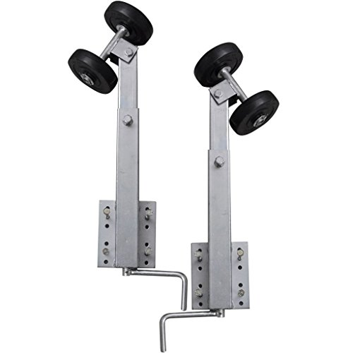 (Boat Trailer Double Roller Bow Support Set of 2 2' - 3' boat trailer Height: 2' - 3')