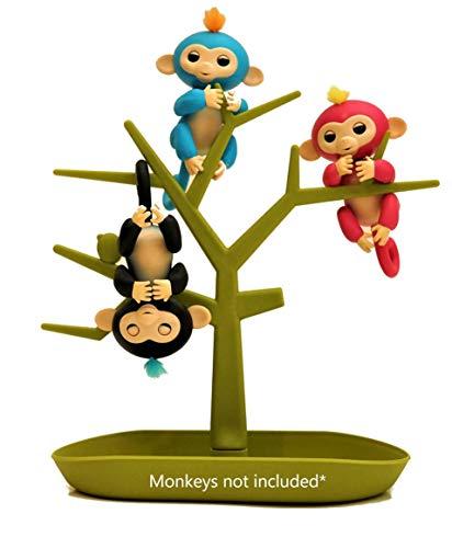 Monkey Stix MONKEY TREE - Storage Tree - Hanging Play Set Climbing Gym - Display Stand - Accessory Accessories Green