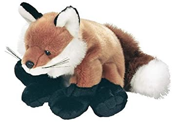 E-Chariot Soft Toys Red Fox Zoo Plush Stuffed Animal Cuddlekins by Wild Republic (80185) 12 Inches