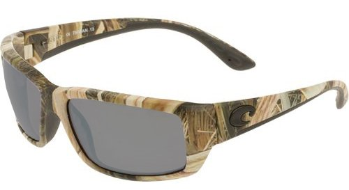 Costa Del Mar Fantail Sunglasses, Mossy Oak Shadow Grass Blades Camo, Silver Mirror 580Plastic - Camo Del Mar Costa