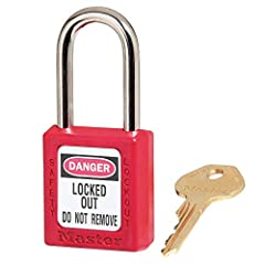 The Master Lock 410RED Lockout Tagout Safety Padlock features a 1-1/2 in. (38mm) wide plastic red body and a 1-1/2 in. (38mm) tall, 1/4 in. (6mm) diameter metal shackle. Designed exclusively for lockout/tagout applications, the durable, light...
