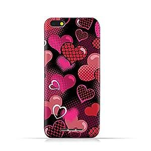 AMC Design Lava Iris 65 TPU Silicone Protective case with Valentines Hearts Pattern