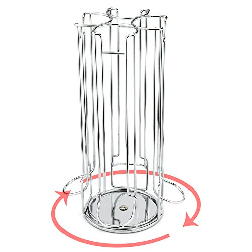 AMOS Soporte de 24 Cápsulas de Café Dolce Gusto Dispensador Giratorio Rotativo Porta Organizador Estante en Acero Inoxidable Torre de Almacenamiento: ...