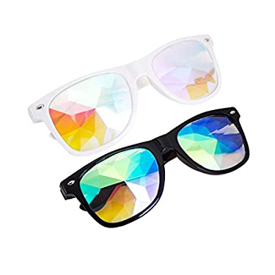 OMG_Shop Kaleidoscope Glasses Festival Cosplay Rainbow Prism Sunglasses Goggles: Sports & Outdoors